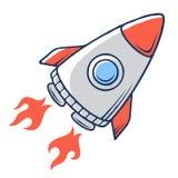Space rocket 001. Space Rocket. Spaceship launch. Vector illustration stock illustration