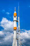 Space rocket at start bed Stock Photos