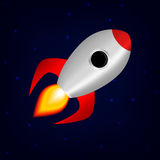 Space rocket. Vector image of a space rocket royalty free illustration