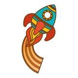 space rocket vehicle icon Royalty Free Stock Image