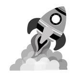 space rocket vehicle icon Stock Photo