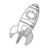 space rocket vehicle icon Royalty Free Stock Images