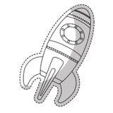 space rocket vehicle icon Stock Image