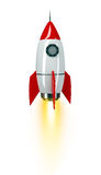 Space rocket on white Stock Images
