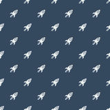 Space rocketship launch seamless pattern. Rocket flat design concept for Project start up and development process.Space rocketship launch seamless pattern for Royalty Free Stock Photo