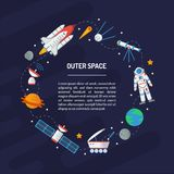 Space round frame royalty free illustration
