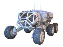Space rover stock illustration