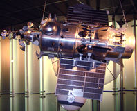 Space satellite. Memorial museum of cosmonautics. Moscow stock image