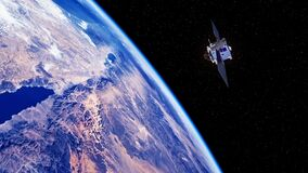 Space Satellite Exploring The Surface Of The Earth