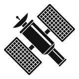 Space satellite icon, simple style Royalty Free Stock Photo