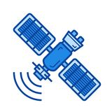 Space satellite line icon. Stock Images
