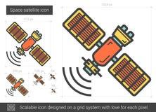 Space satellite line icon. Stock Photos