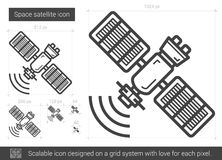 Space satellite line icon. Stock Image