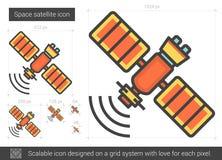 Space satellite line icon. Royalty Free Stock Photo