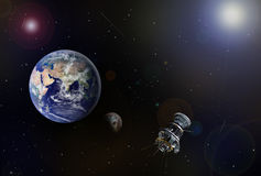 Space scenario Royalty Free Stock Photo