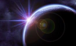 Space scene Stock Image