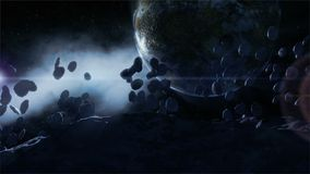 Space Scene. Another beautiful space scene. Animation
