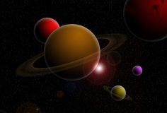Space scenery Royalty Free Stock Photography