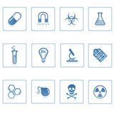 Space and Science icon II. A set of web icons with light reflections royalty free illustration