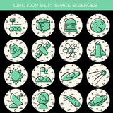 Space Science icon set Stock Photo