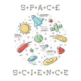 Space Science illustration Stock Photo