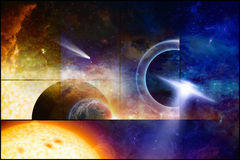 Space scientific background Stock Image