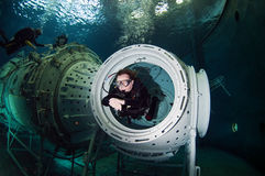 Space scuba diver Stock Photo