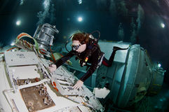 Space scuba diver Royalty Free Stock Image
