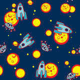 Space seamless background Stock Images