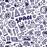 Space - seamless background Stock Photo