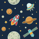 Space Seamless Pattern Stock Image