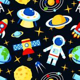 Space seamless pattern Stock Photo