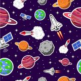 Space seamless pattern Royalty Free Stock Photography