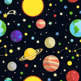 Space seamless pattern Stock Photos