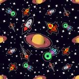 Space seamless pattern Stock Image