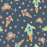 Space seamless pattern Royalty Free Stock Image