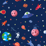 Space Seamless Pattern Royalty Free Stock Photos