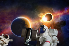 Space selfie Royalty Free Stock Images