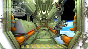 Space ship. 3D CG rendering of space ship inboard Royalty Free Stock Photo