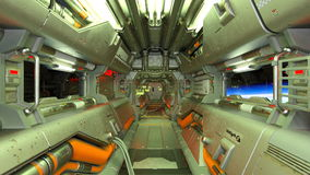Space ship. 3D CG rendering of space ship inboard Royalty Free Stock Photos