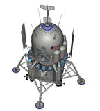 Space ship. 3D rendered space ship on white background isolated Royalty Free Stock Photos