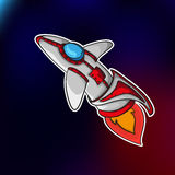 Space ship EPS 10 royalty free stock photo