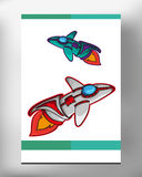 Space ship EPS 10 stock photo