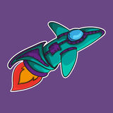Space ship EPS 10 royalty free stock image