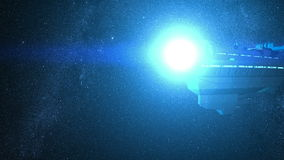 Space Ship Flyby Stock Photo