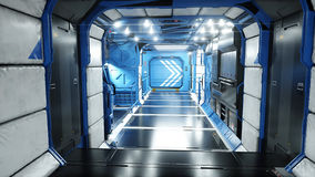Space ship futuristic interior. Sci fi view. 3d rendering. Stock Photo