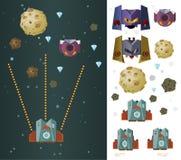 Space ship game asset Stock Photos