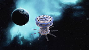 Space ship. Image of space ship and space Stock Photo