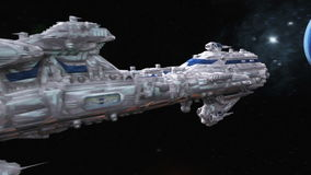 Space ship stock footage