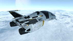Space ship. Image of a space ship Stock Photo